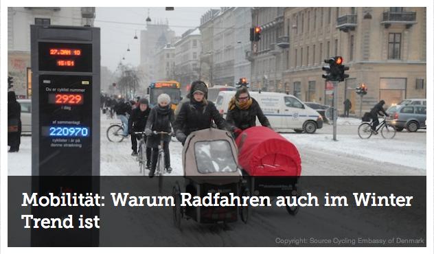 Hier ein Bildschirmfoto von der Artikelüberschrift mit Foto von WiWi Green. Schönes Bild aus Kopenhagen